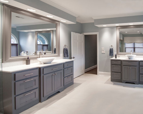 Grey Cabinets Blue Walls Ideas, Pictures, Remodel and Decor