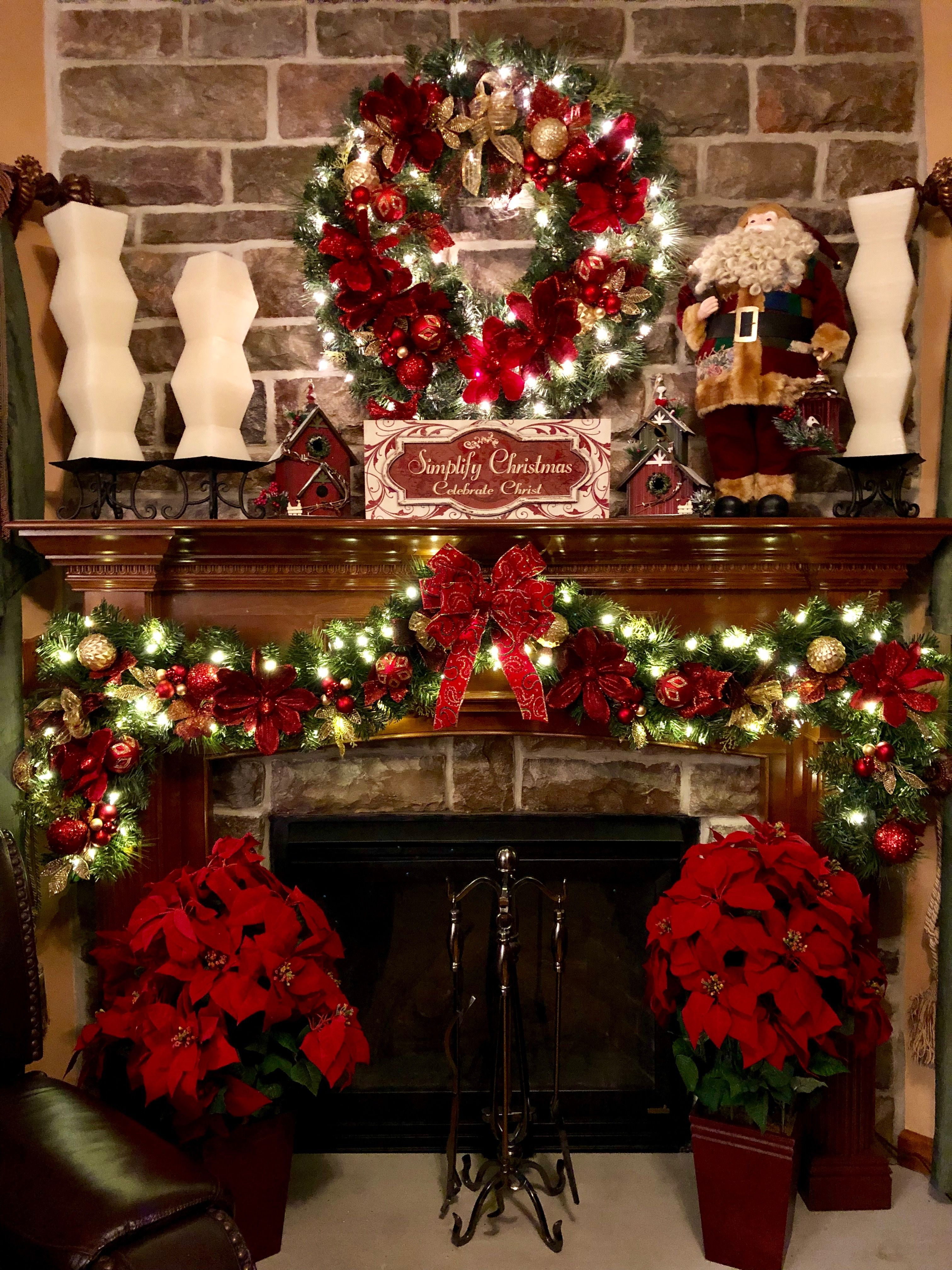 My beautiful fireplace with Christmas decorations 2k18 ...