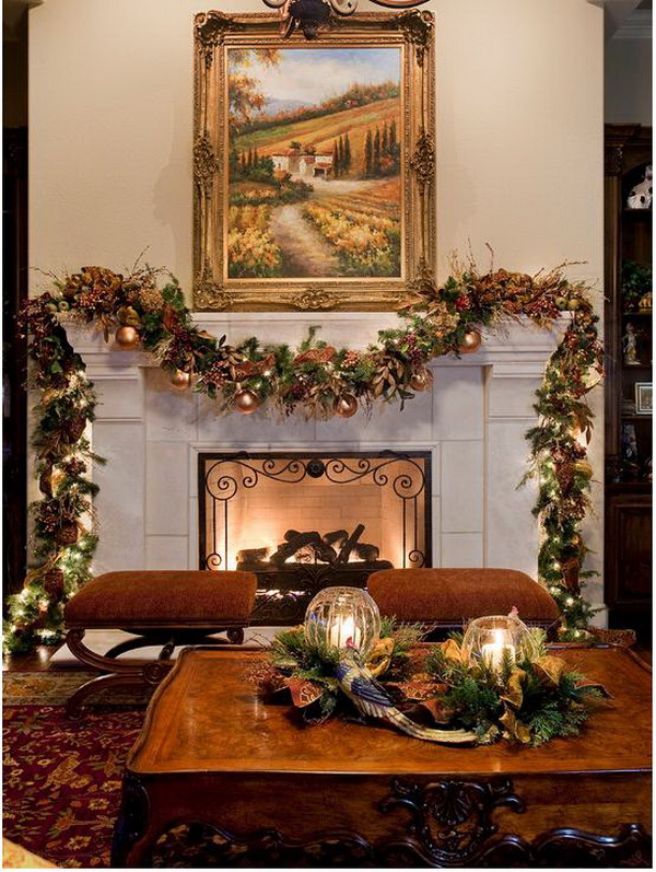 Christmas Decoration Ideas for Fireplace | Ideas for home ...
