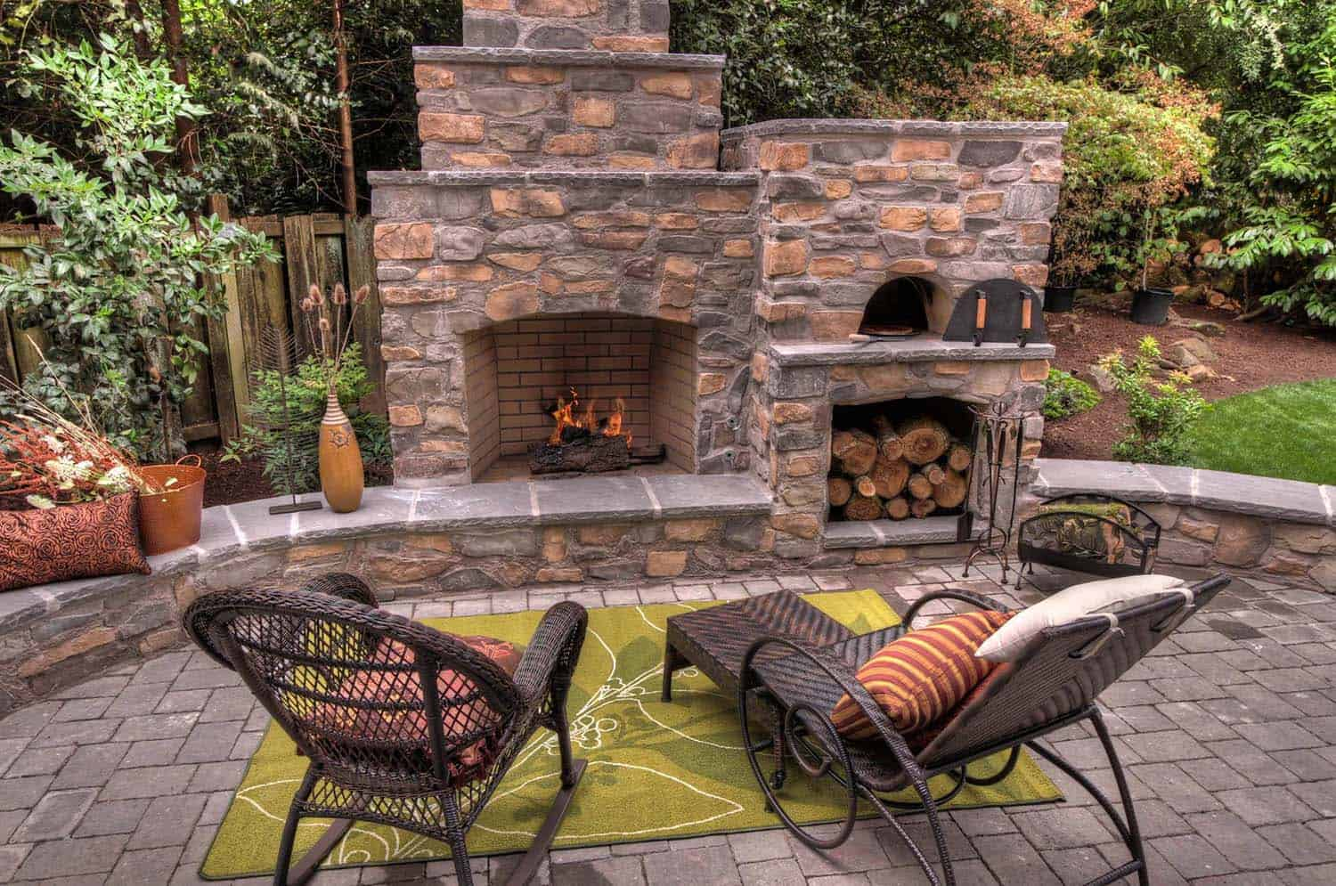 30+ Irresistible outdoor fireplace ideas that will leave ...